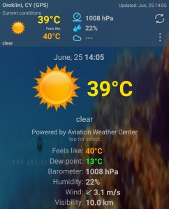 Heat wave Cyprus June 2019